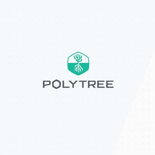 A futuristic tech logo