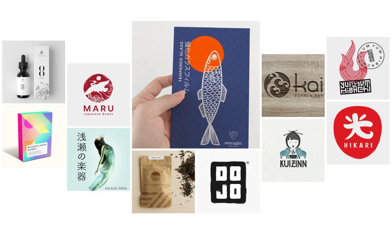 Geometric Japanese Inspired Digital Paper Pack
