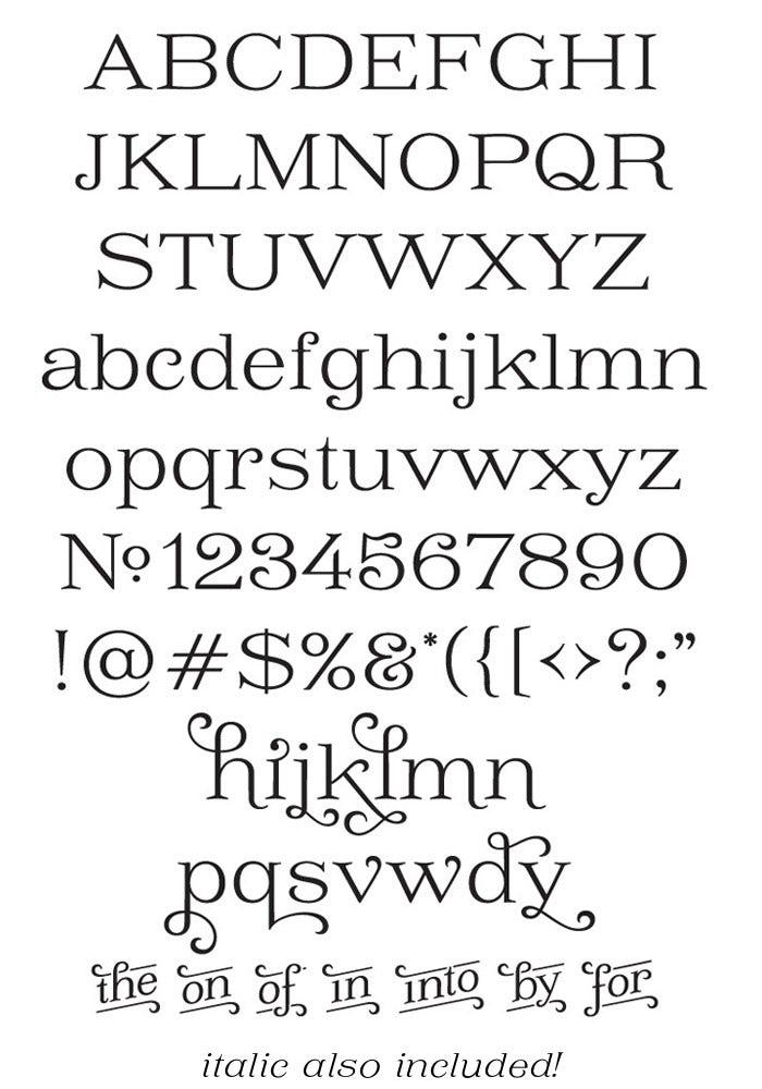 Type Design example