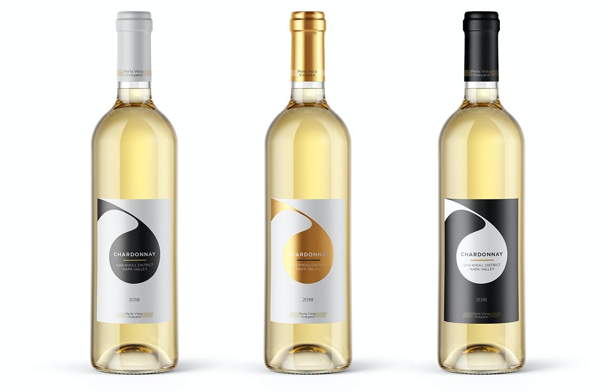 elegant modern wine logo