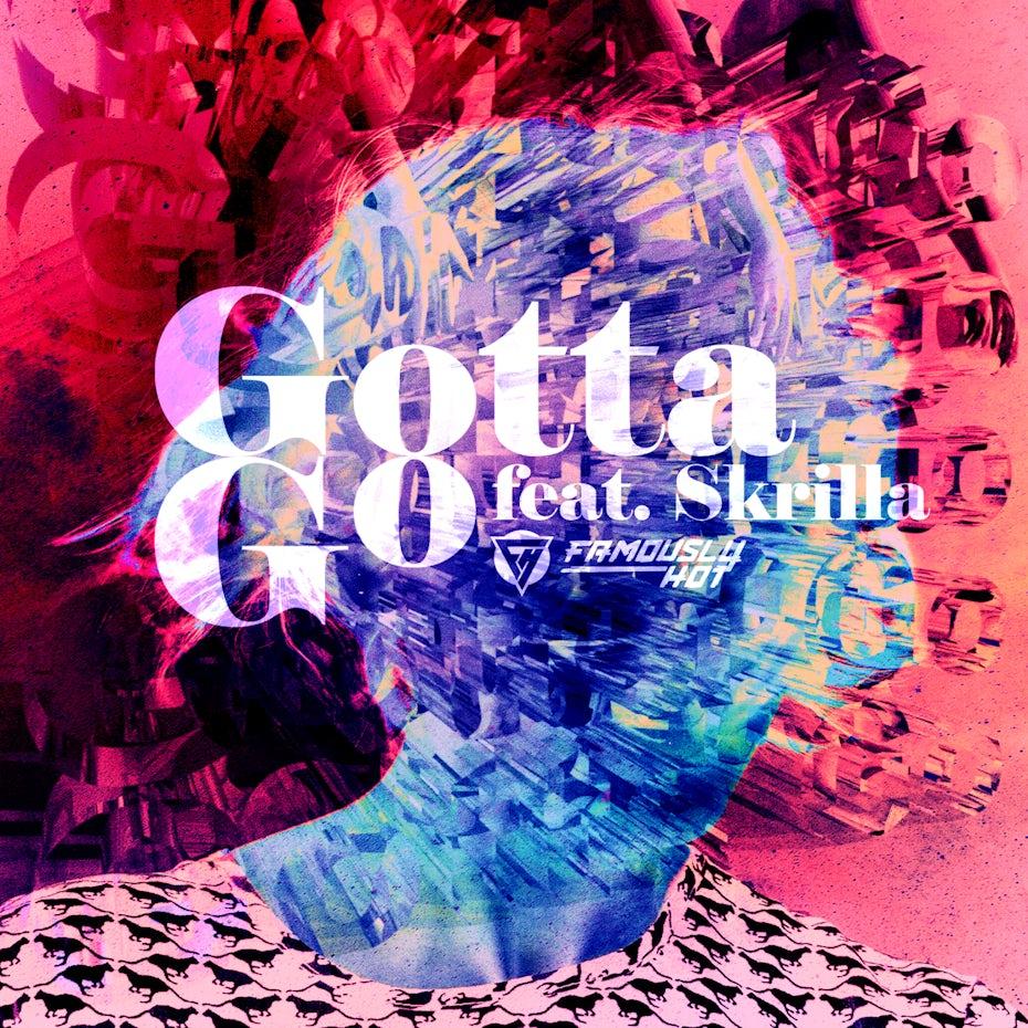 A glitch art album cover