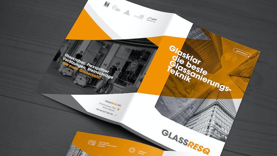 A duotone brochure design