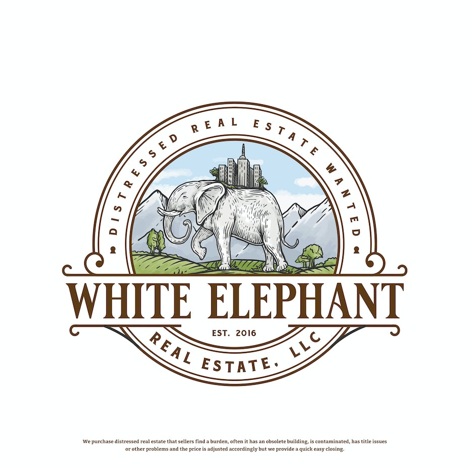 White Elephant Label