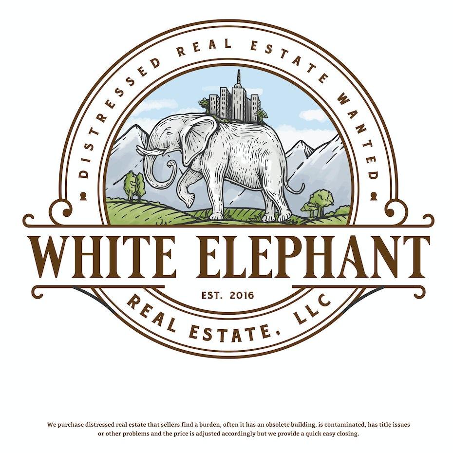 White Elephant Label