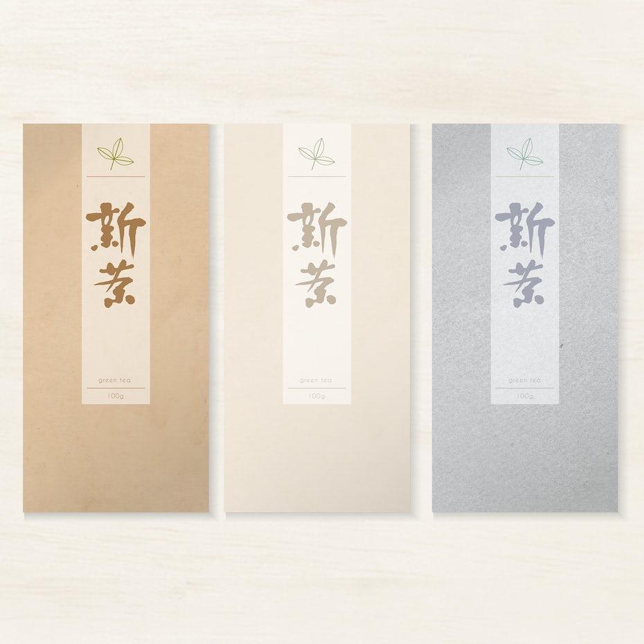 Japanese tea bag package