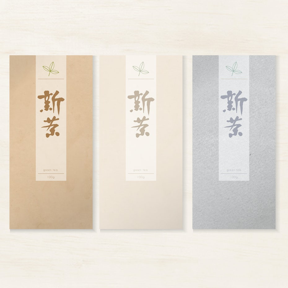 Japanese tea bag package