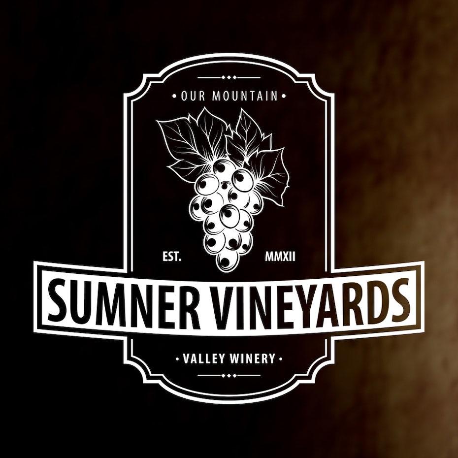 Sumner Vineyards wine logo