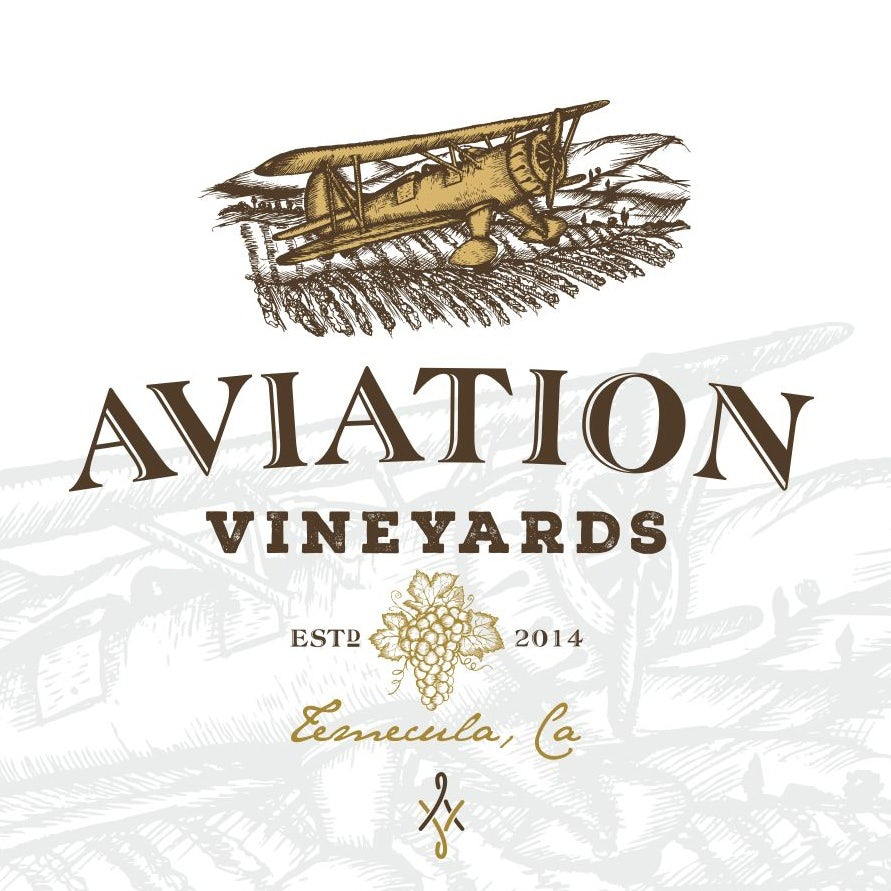 Aviation Vineyards wine logo