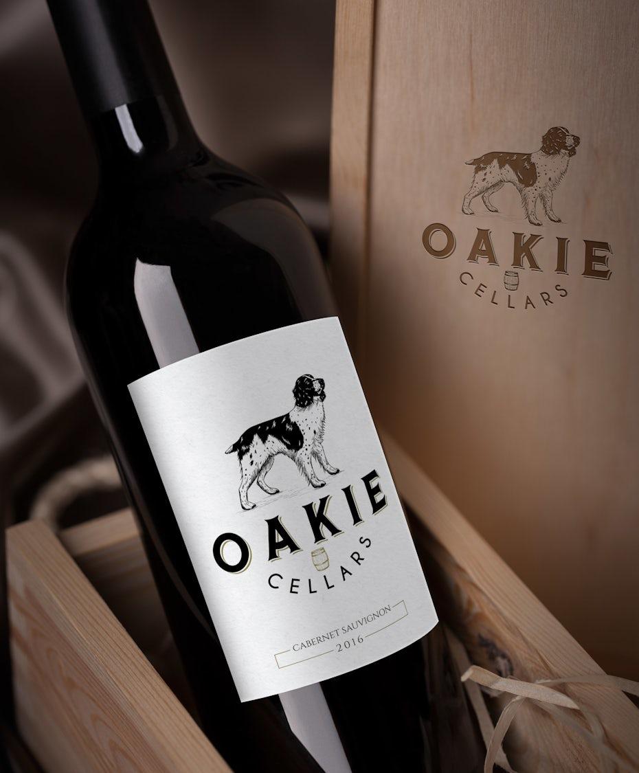 Oakie Cellars wine logo