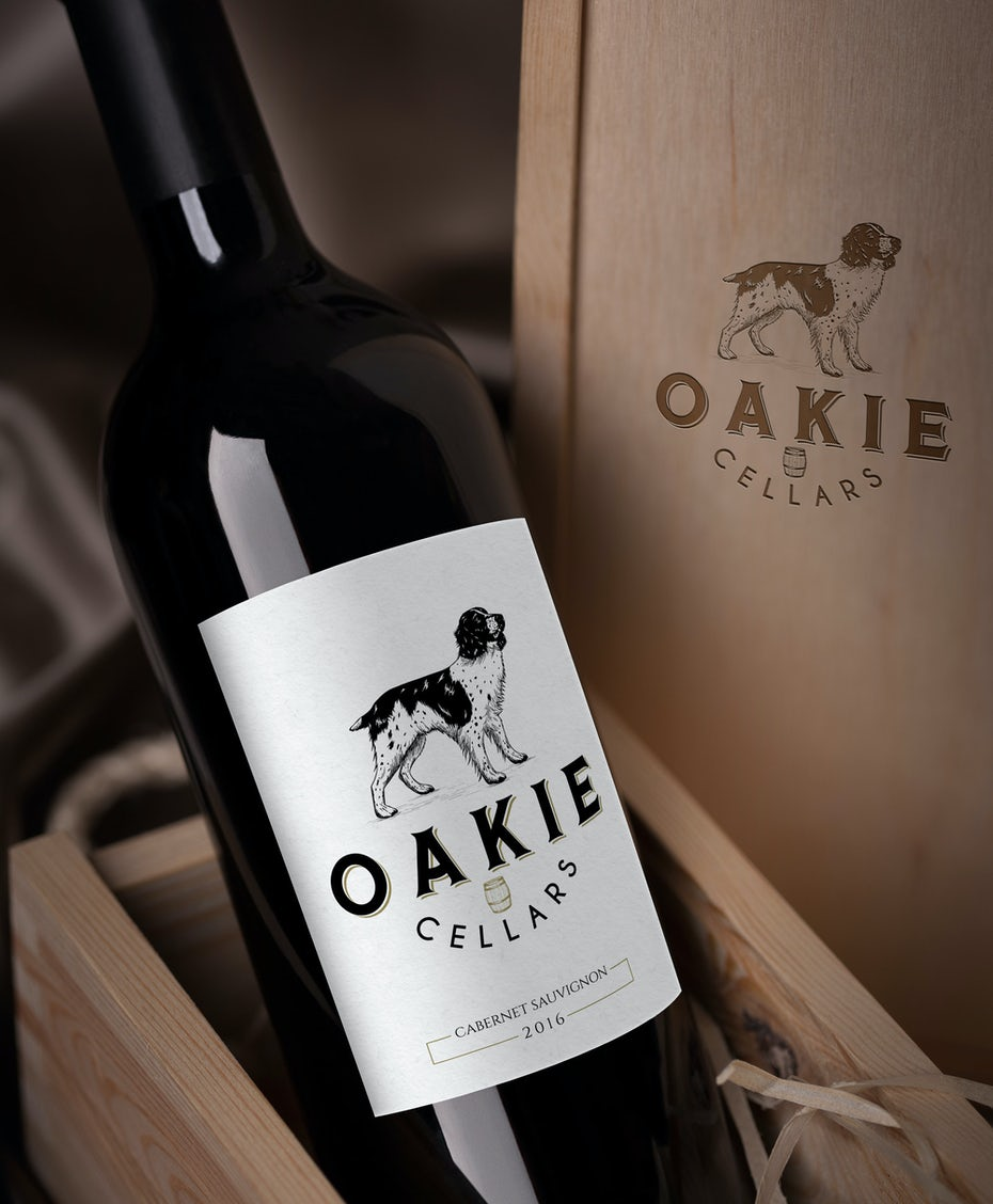 Oakie Cellars wine logo