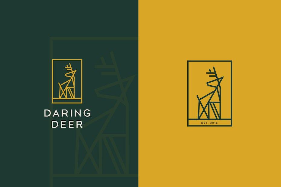 Daring Deer logo design