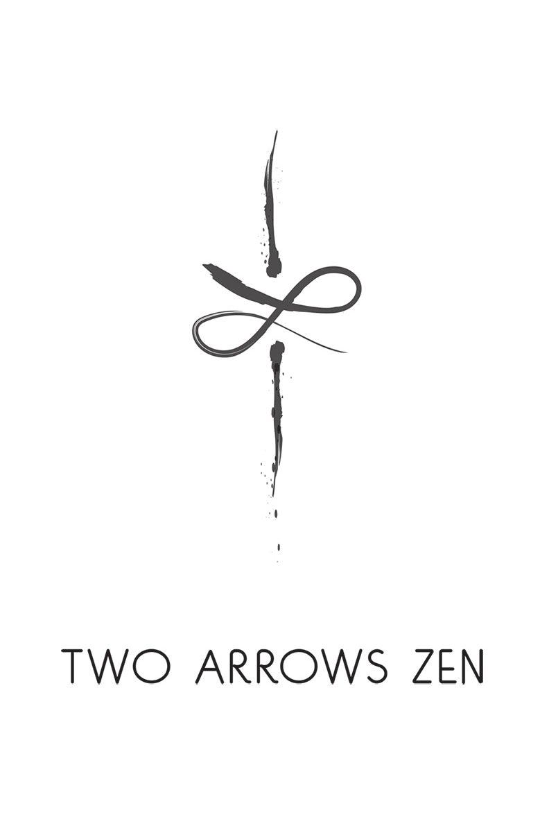Two Arrows Zen Japanese Logo Design