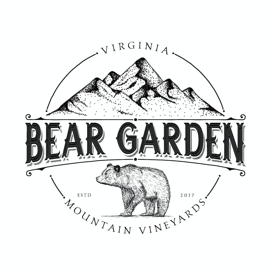 Virginia Beer Gardens Vineyards logo