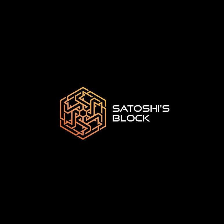A geometric futuristic logo