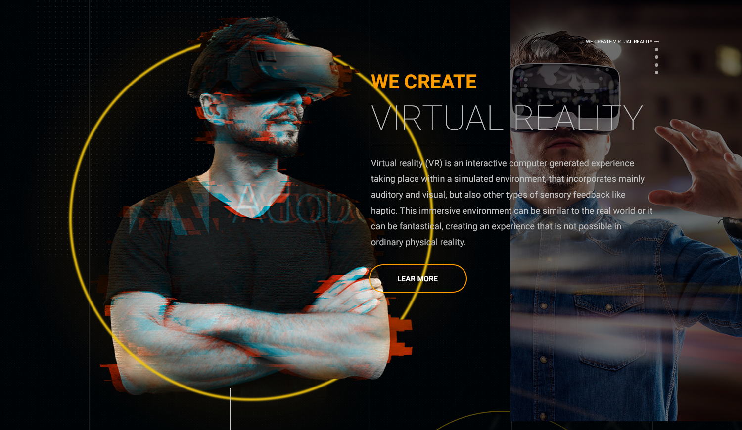 A VR company website header image