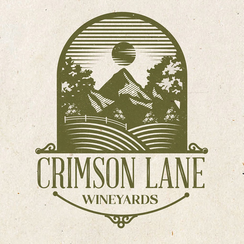 Crimson Lane wine logo contest entry
