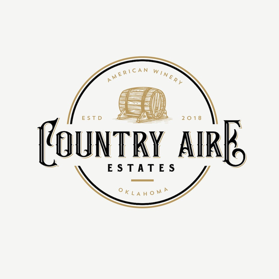 Country Aire Estates Winery wine logo