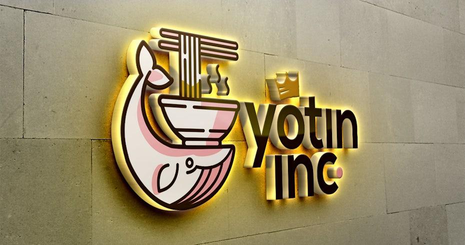 Whale logo for Yotin Inc.