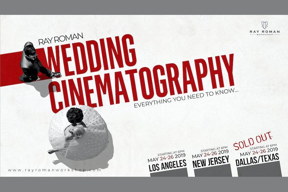 Workshop Poster for Wedding videographers
