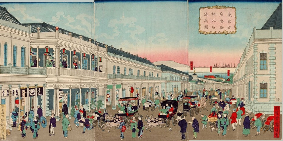 Late 1800s Japanese painting