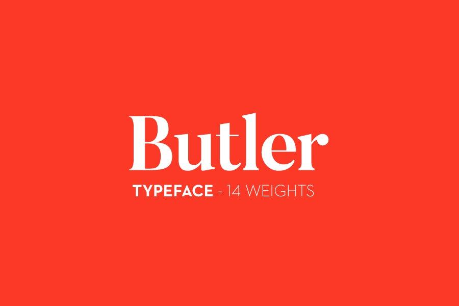 butler font logo