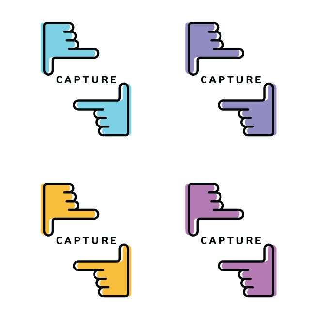Logo design of the hand sign for a photograph