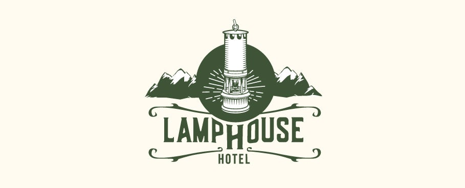 A rustic, yet modern approach for a logo suited for a hotel located in an old miners' town