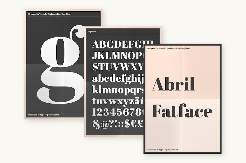 abril fatface logo font