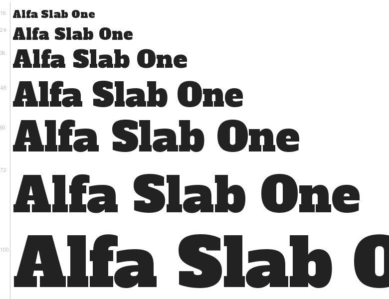 alfa slab one font logo