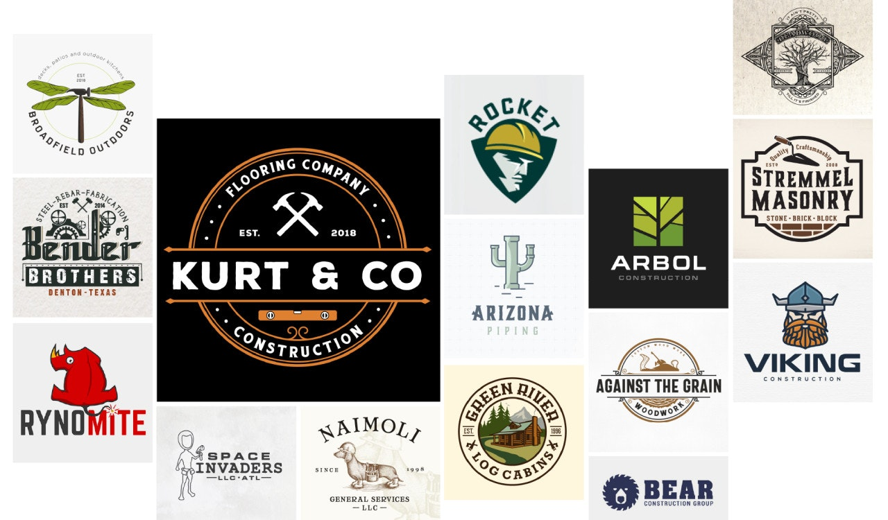 collection of the best construction logos