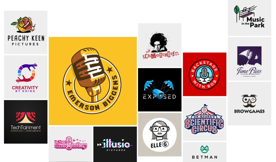 collage of entertainment logos