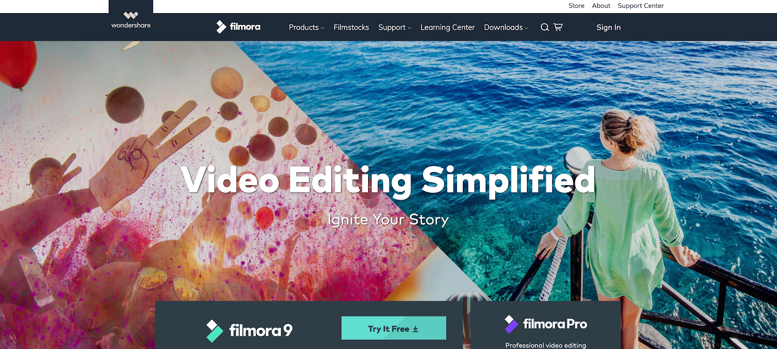 Filmora is an easy to use web-based video editor