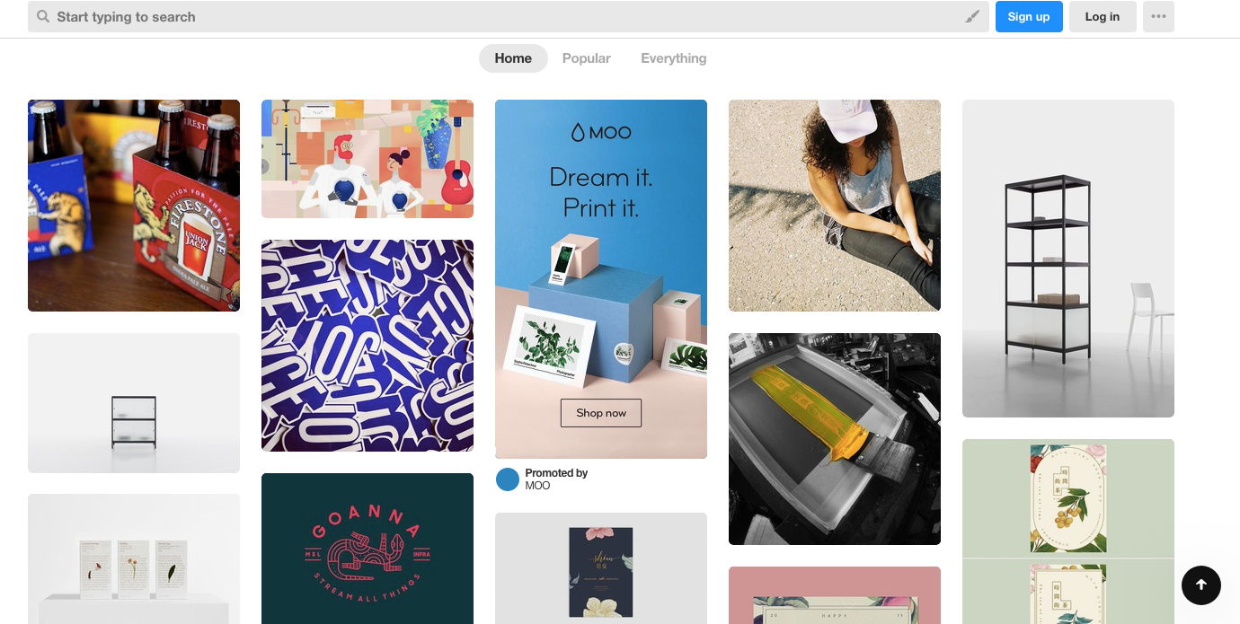 Designspiration homepage