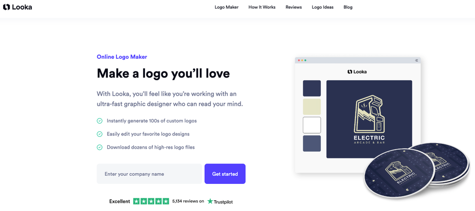 logo maker looka website