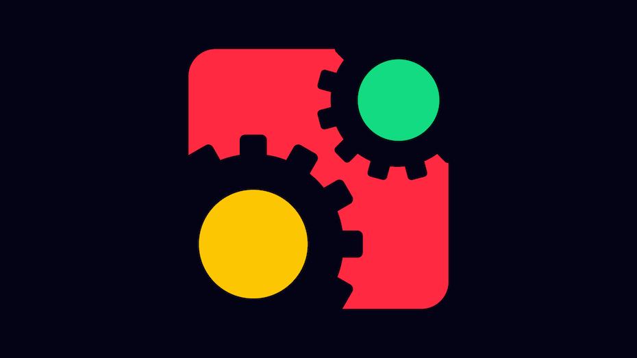 simple illustration of gearwheels