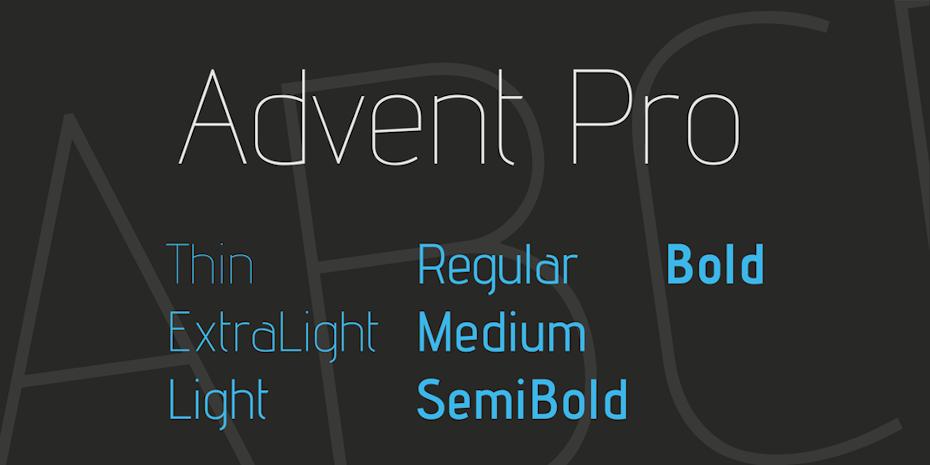 advent pro font logo