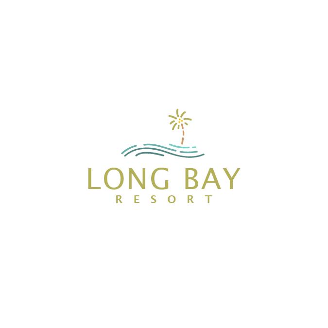 A friendly, simplistic logo design for a resort.