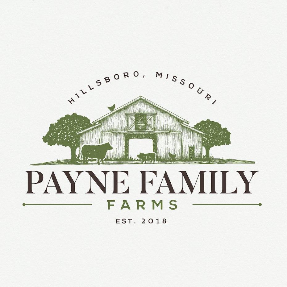 Logo for Payne Family farms