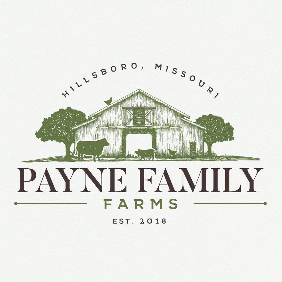 Logo for Payne Family farms