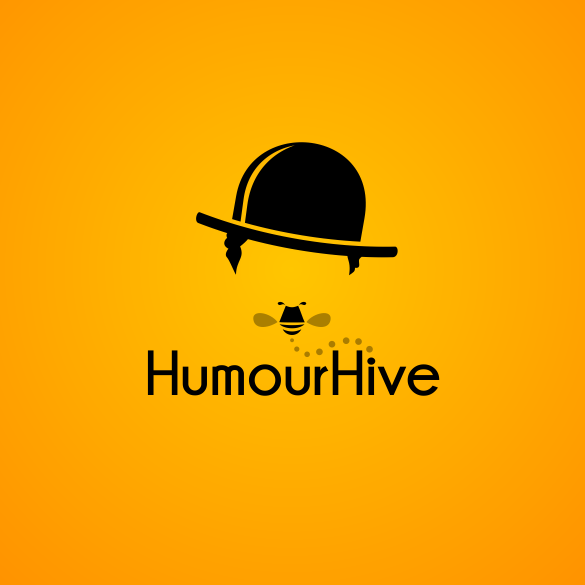 punny humour hive comedy logo