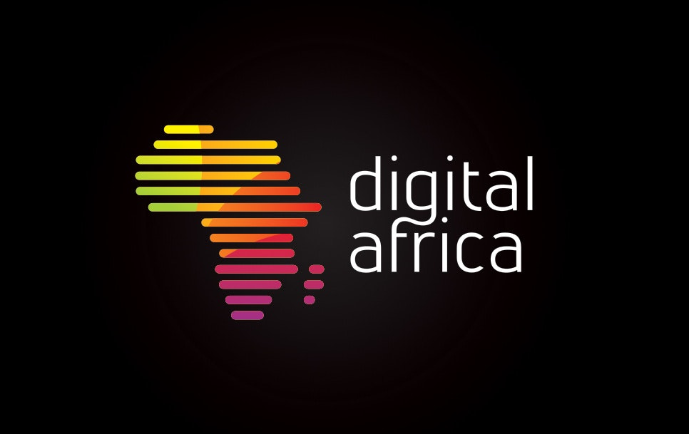 colorful africa shape logo