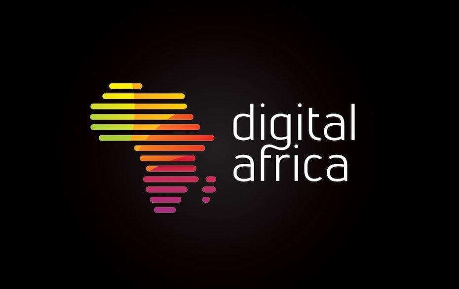colorful africa shape logo