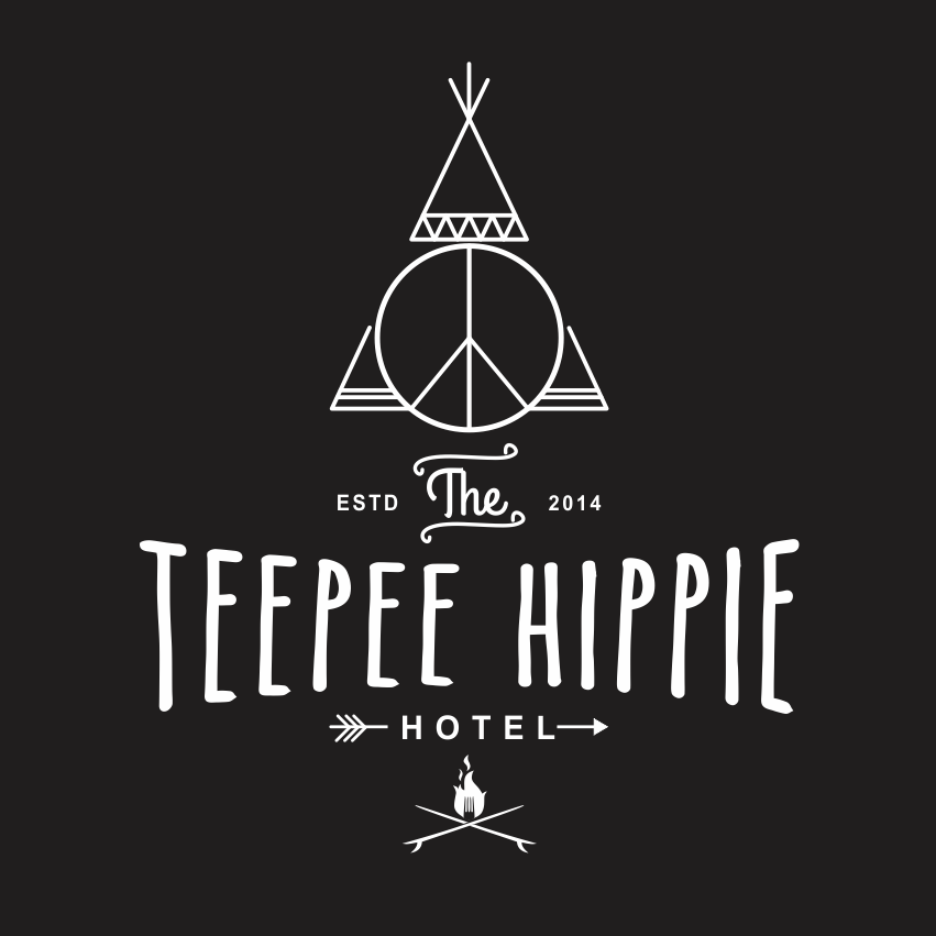 A playful and bohemian inspired logo for a hotel.