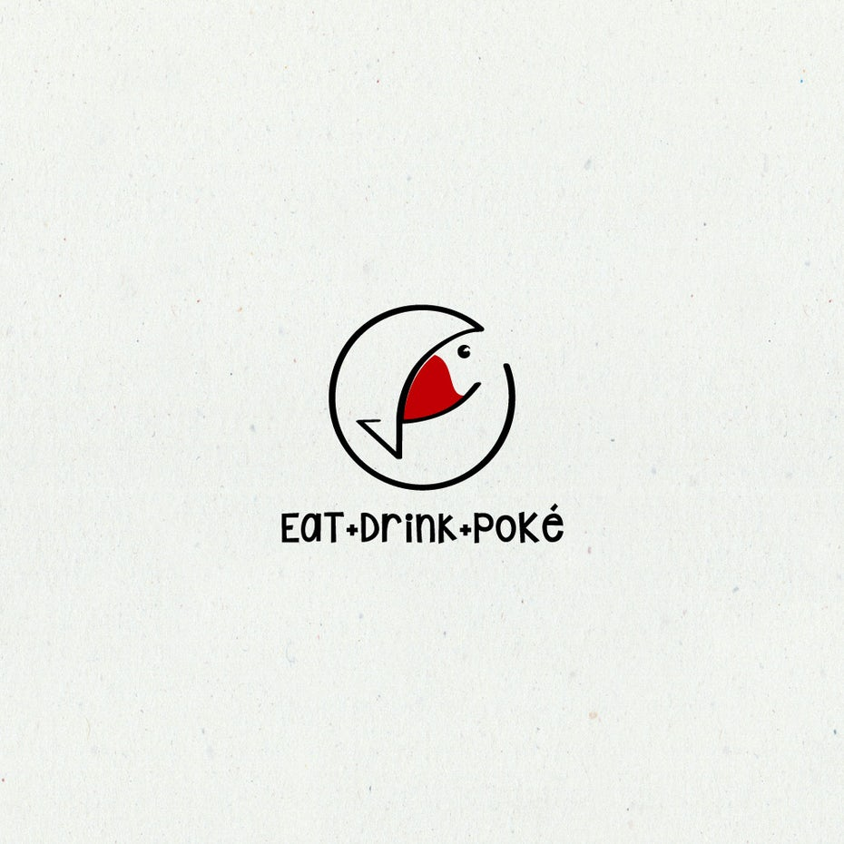 Fish restaurant bar logo