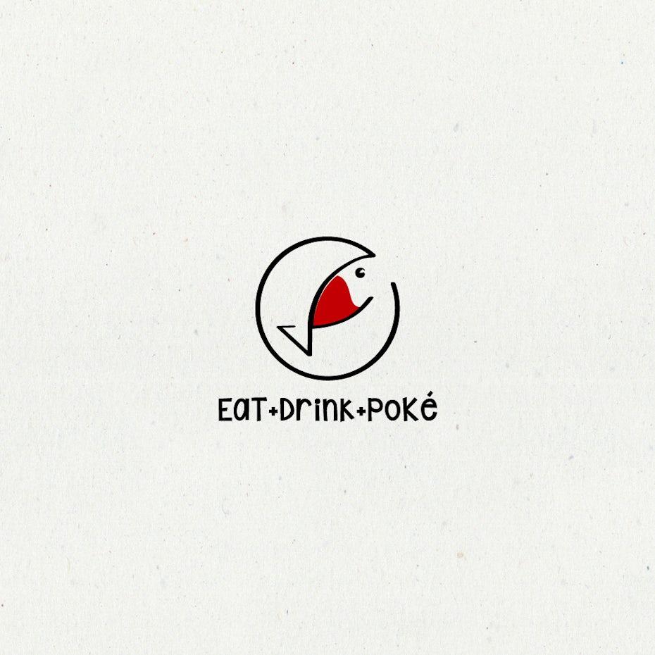 Fish restaurant bar logo