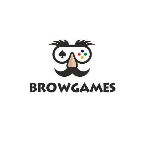 "video game controlled fashioned like a mash with a large nose and eyebrows with the text ""browgames"""