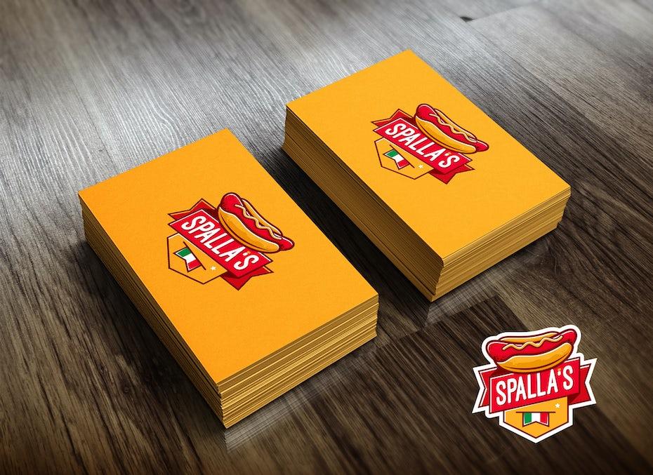 Design de logo pour une entreprise de hot dogs