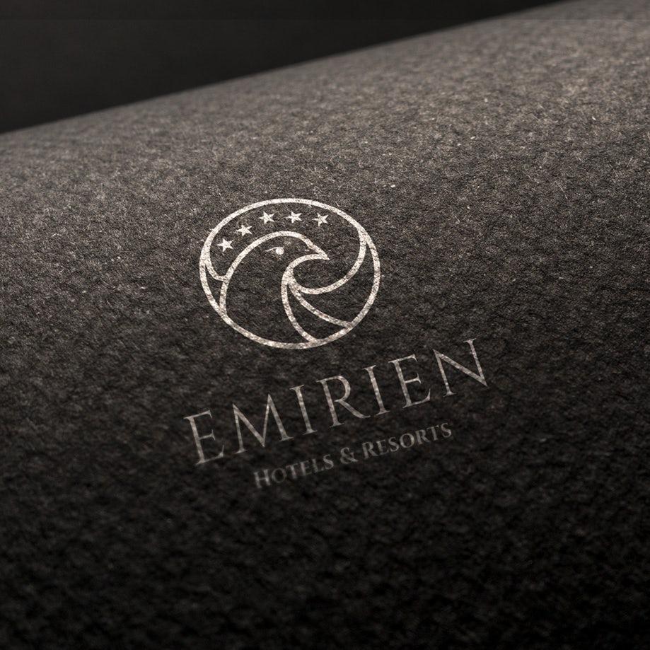 An authoritative approach to a hotel logo.
