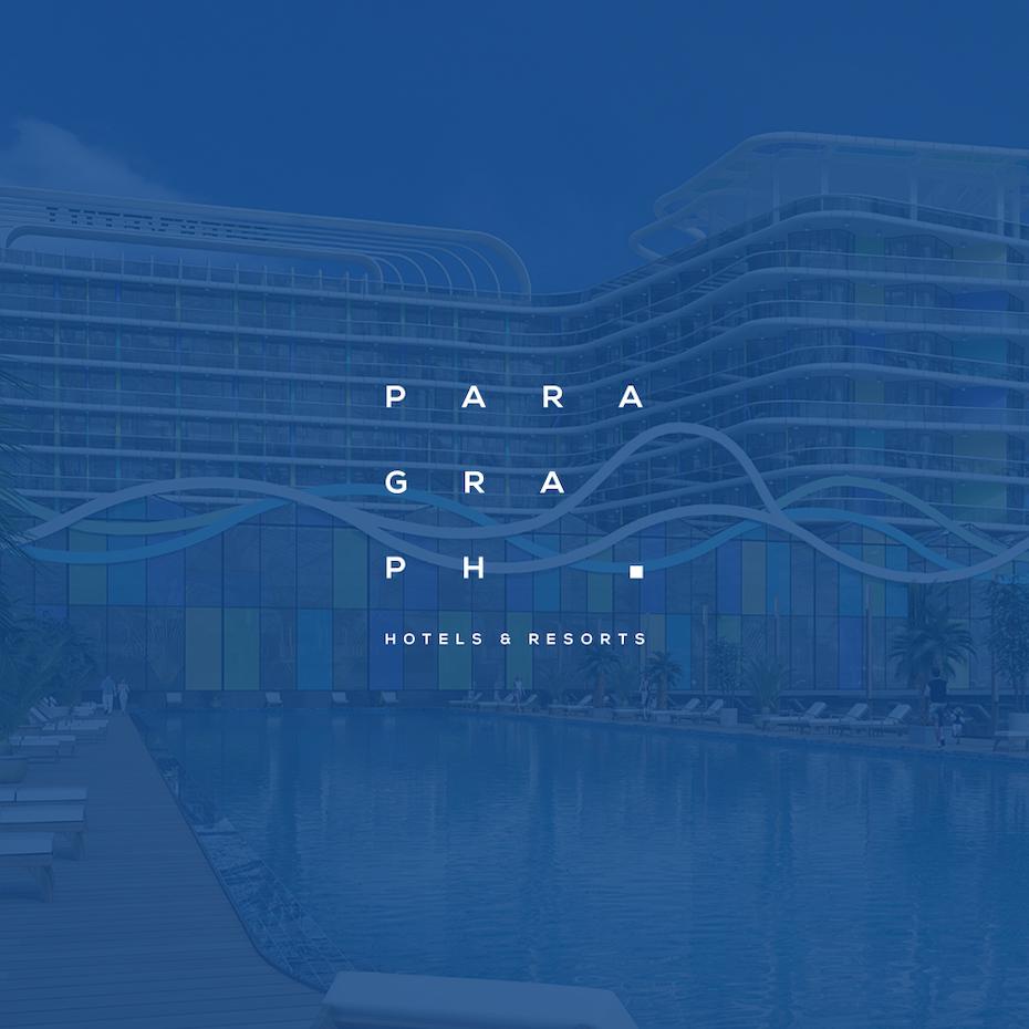 A sleek and futuristic logo design for a hotel chain.