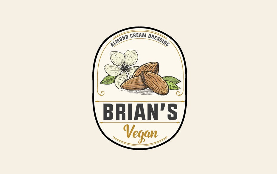 Vegan almond cream dressing logo